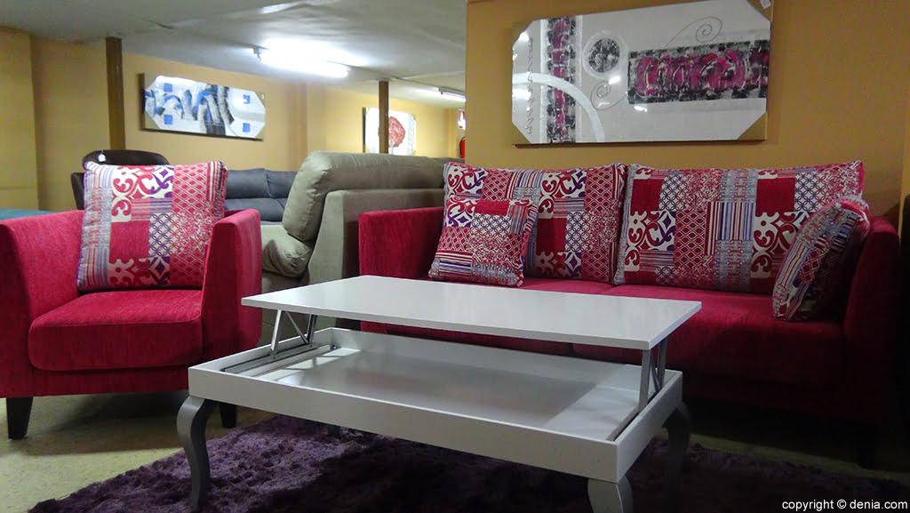 Sofá rojo Muebles Mencor