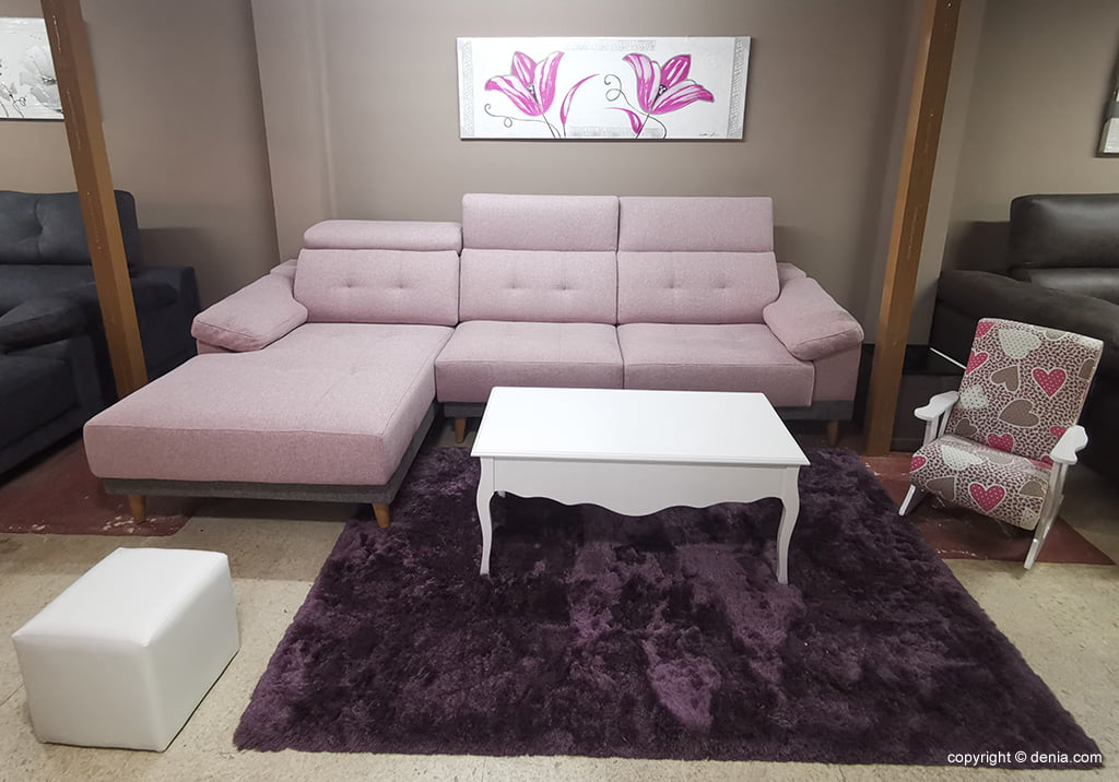 Sofà rosa Mobles Mencor