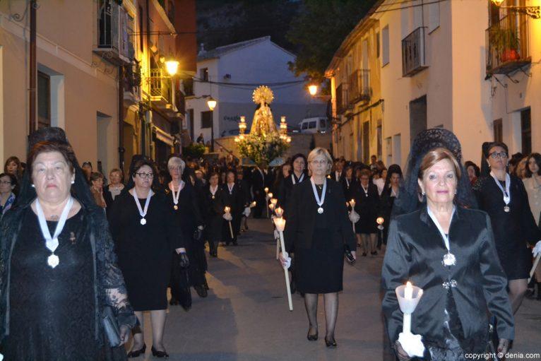 Procesión de la Mare de Déu dels Desemparats - Calle Pont