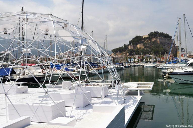 Puerto de Dénia - El castillo desde Zensa