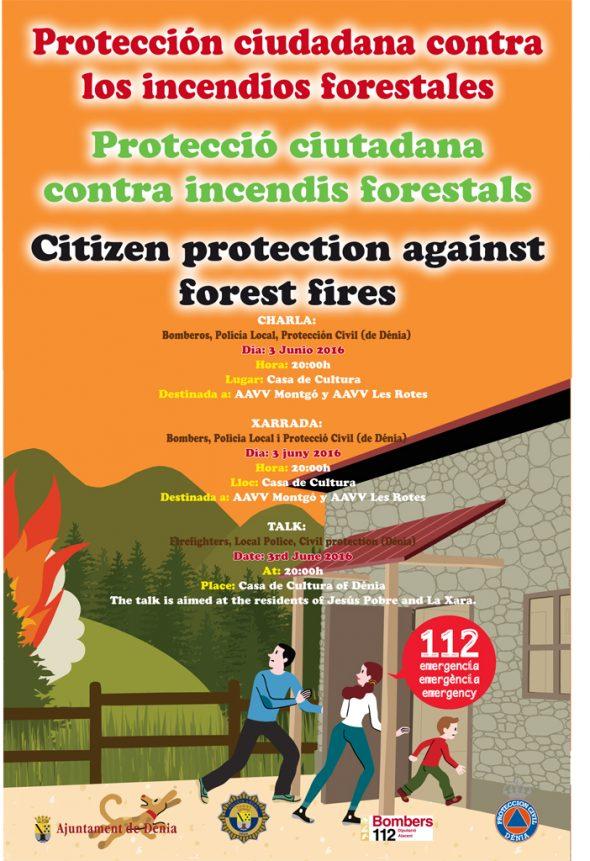 Charla sobre prevención de incendios forestales en Dénia
