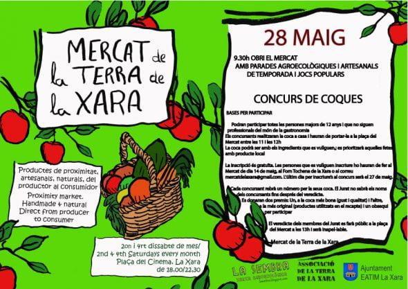 Concurso de cocas en el Mercat de la Terra de La Xara