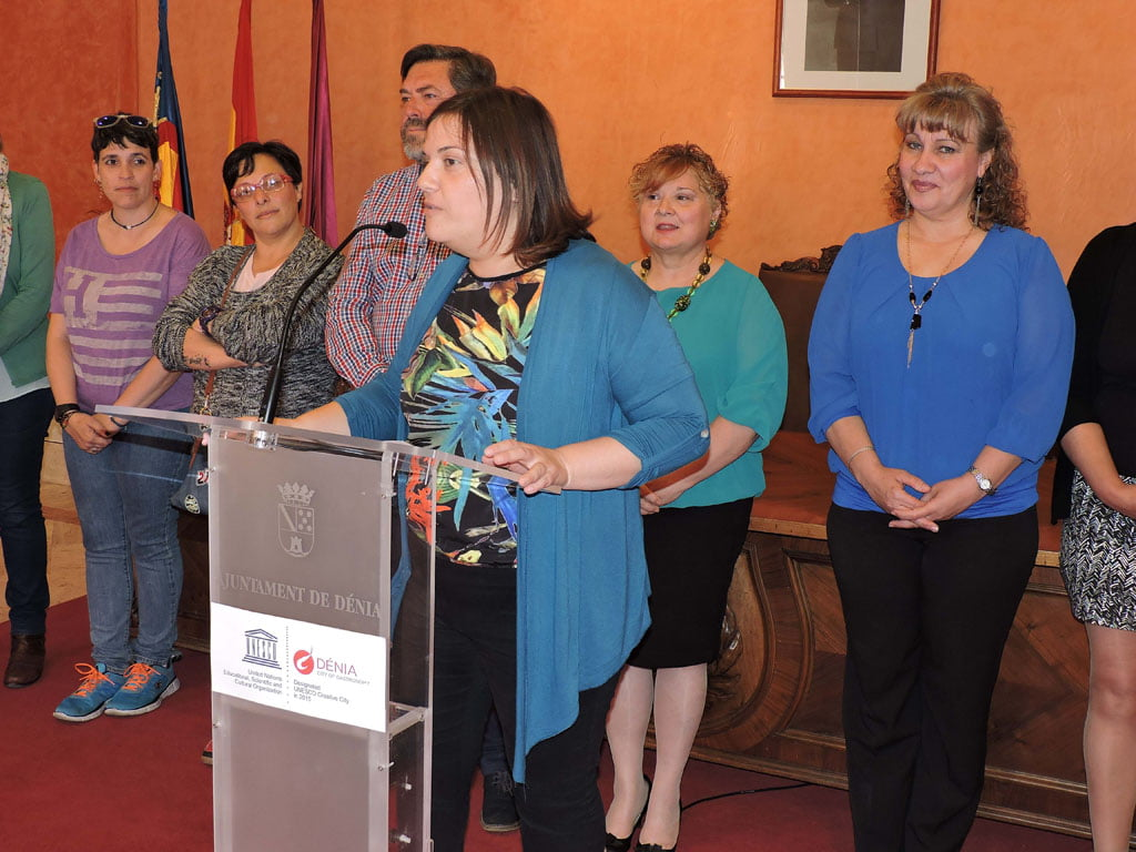Cristina Morera in the act of the International Day of Fibromyalgia