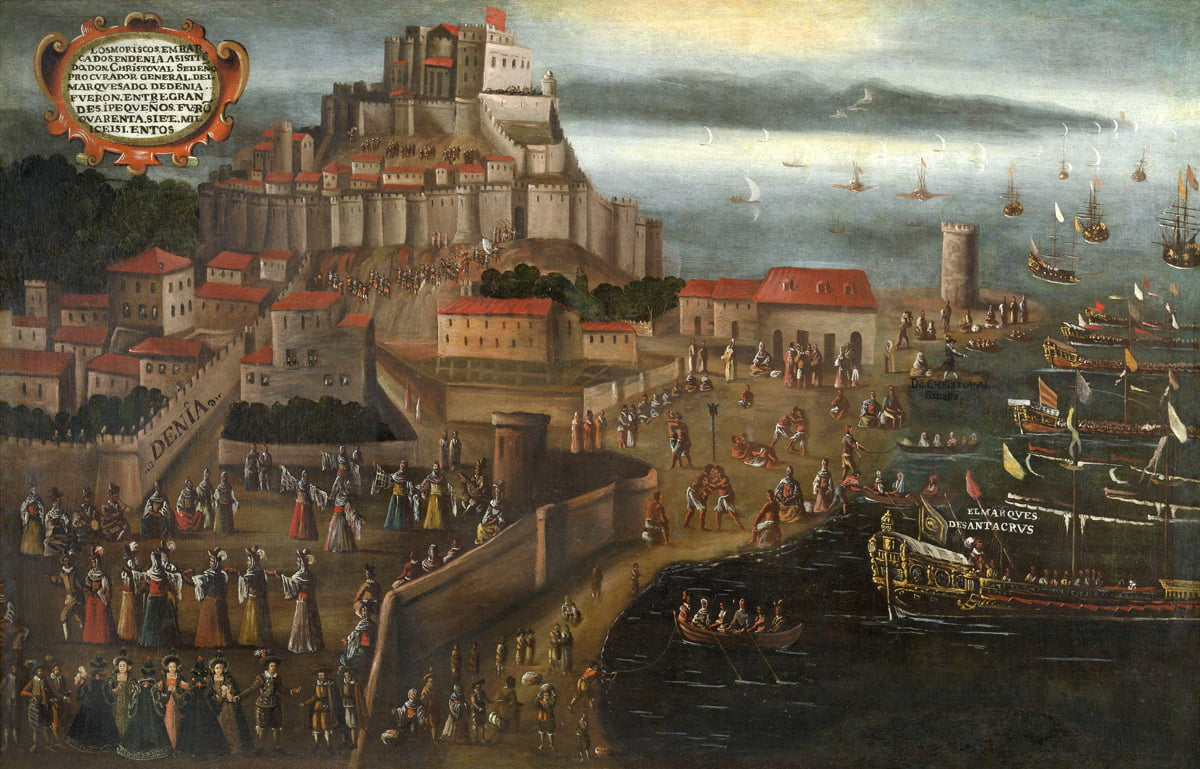Expulsión de los moriscos en el Puerto de Dénia – Vicente Mostre 1963