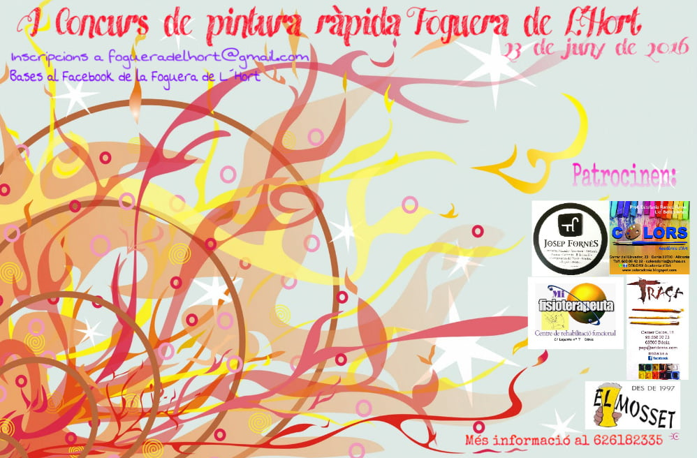 I Contest of Fast Painting Foguera L'Hort