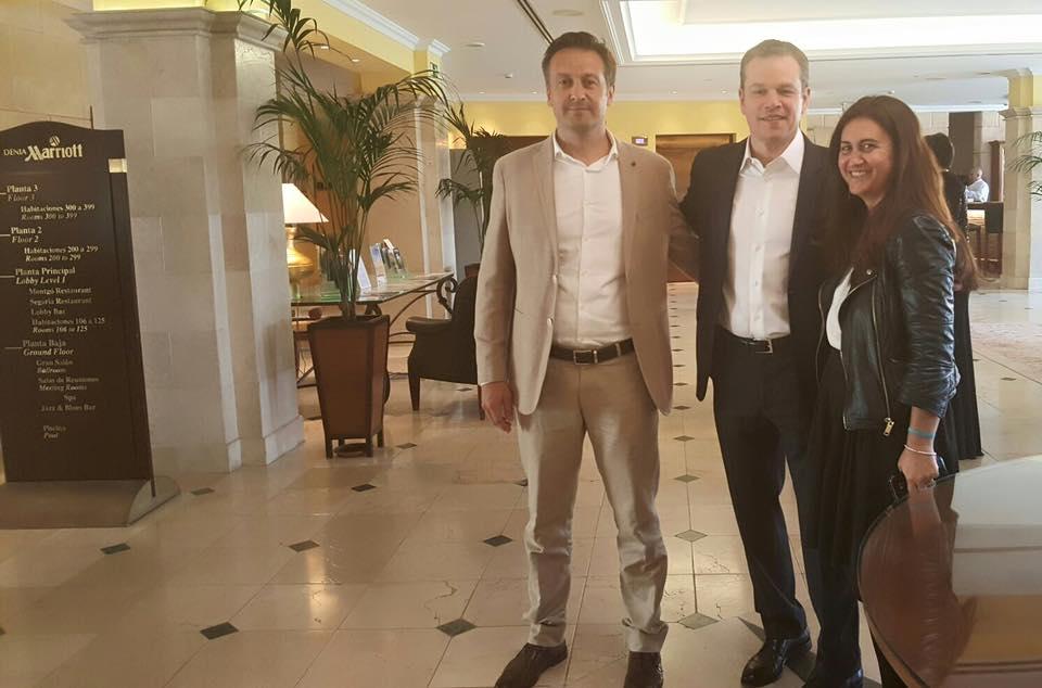 Matt Damon en el Hotel Dénia Marriott