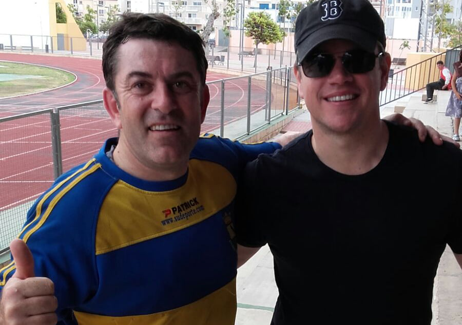 Matt Damon y Nicolas Viaud