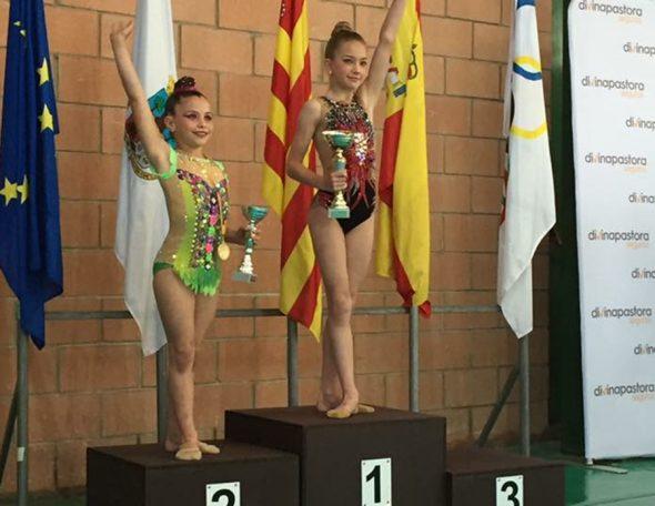 Nastia  Bolshakova en el podio