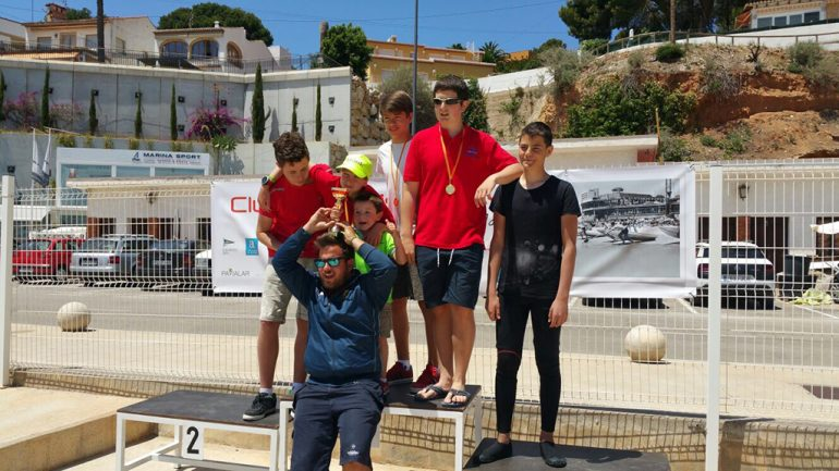 RCN Denia paddlers with their trophies