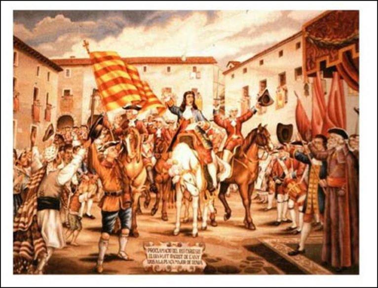 Proclamación del Archiduque Carlos como rey en Dénia