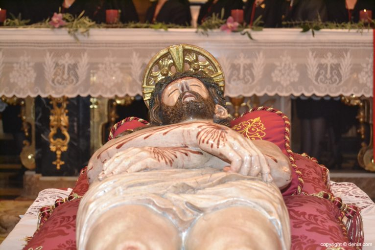 Talla de la Santísima Sangre en la Iglesia de Loreto de Dénia
