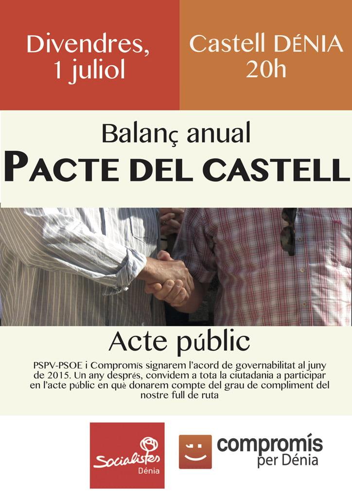 Balance anual del Pacte del Castell