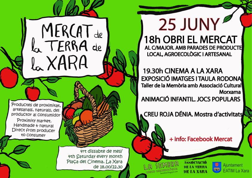 Mercat de la Terra La Xara 25 junio