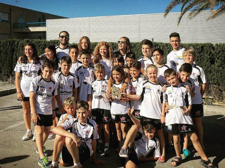 Nadadores de  la Escuela del Club Natació Dénia