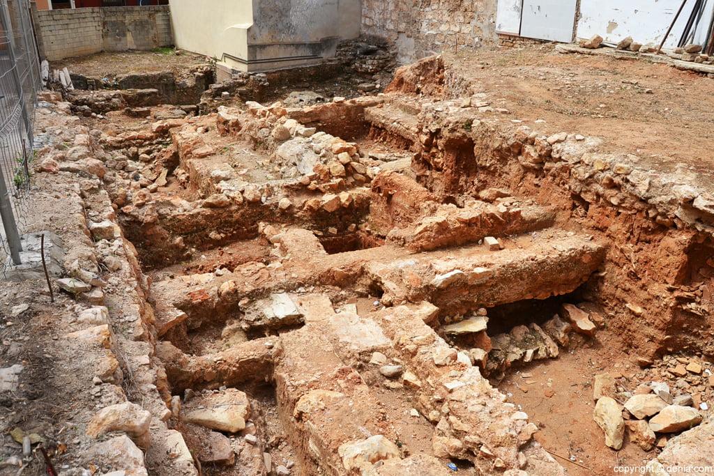 Restos arqueológicos en el solar de la calle Loreto