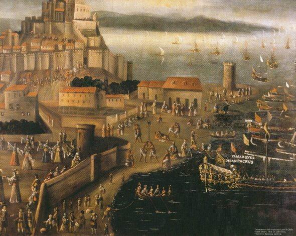 Embarque de los moriscos en el puerto de Dénia