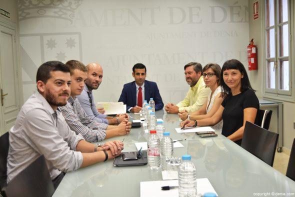 Encuentro de alcaldes de la comarca con FGV