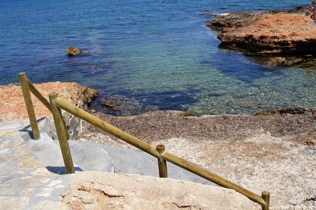 Toegang trap naar punta negra strand dénia.com