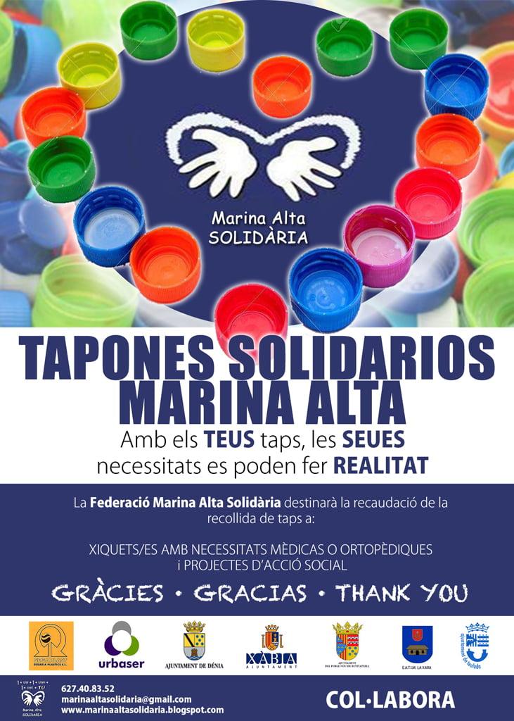 Recogida solidaria de tapones de plástico