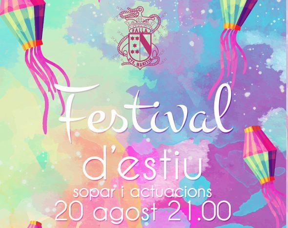 Cartel Festival de verano de la Falla Baix la Mar