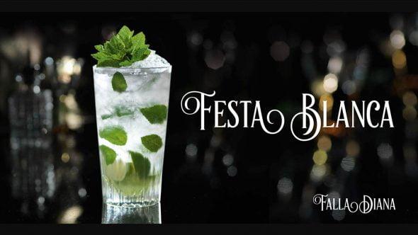 Cartel Fiesta Blanca de la Falla Diana