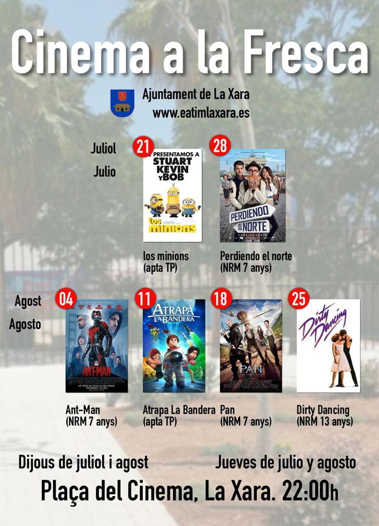 cinema a la fresca la xara d