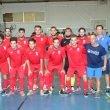 Equipo del Dénia Futsal ante el Elche CF