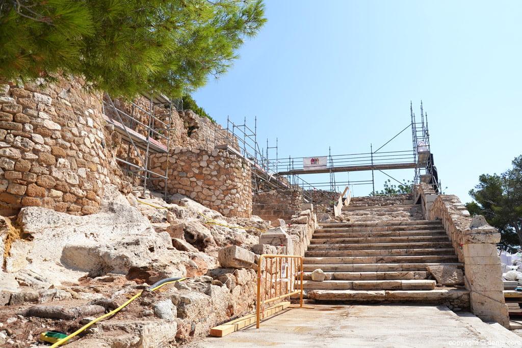 Estado actual de la escalera del Palau