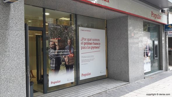 Oficina del Banco Popular en Dénia