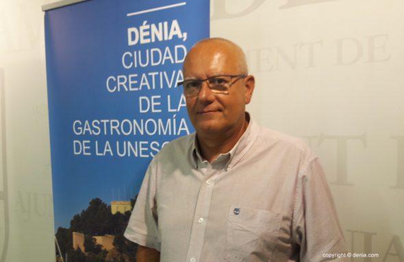 Vicent Grimalt en el ayuntamiento de Dénia