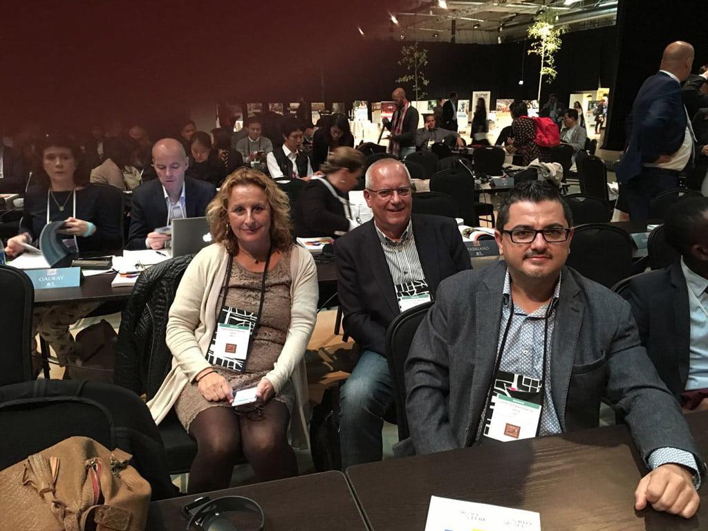 Delegación dianense en sesión plenaria_Encuentro Östersund