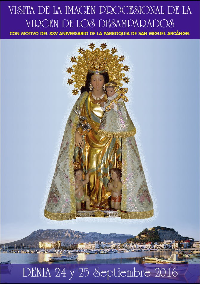 The image of La Peregrina visit Dénia