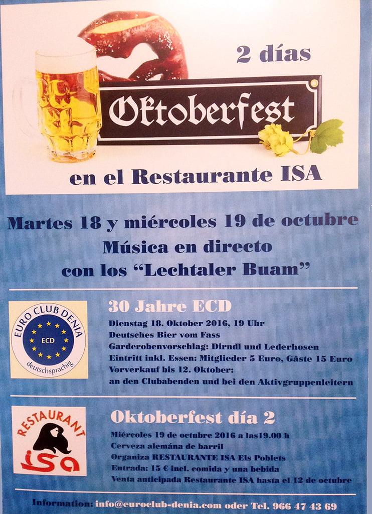 Oktoberfest en Restaurante Isa