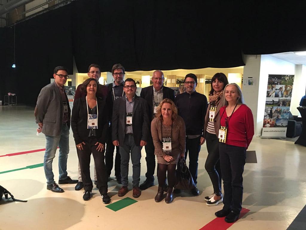 Reunión Ciudades Creativas de España en Centro de Convenciones de Östersund