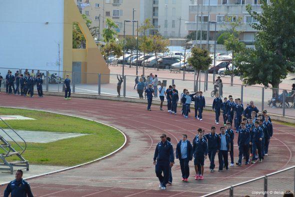 Desfile de la escuela de Fútbol