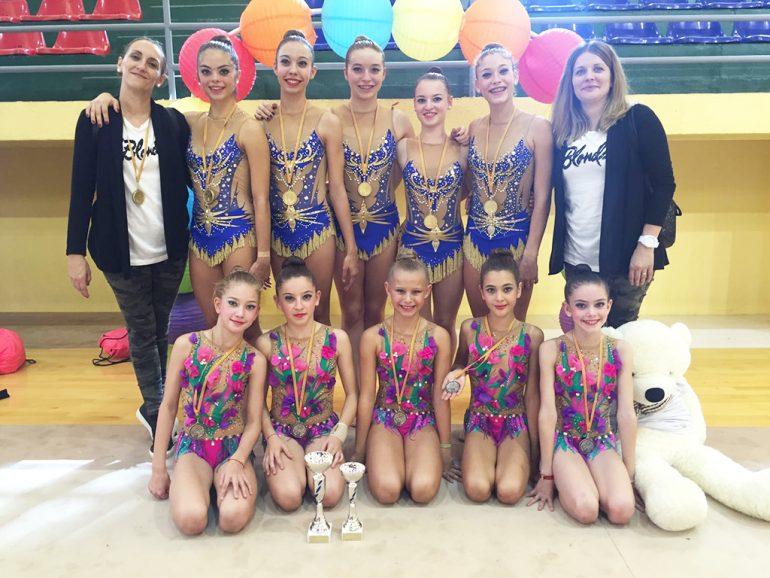 Gimnastes dels clubs de Dénia i Calp