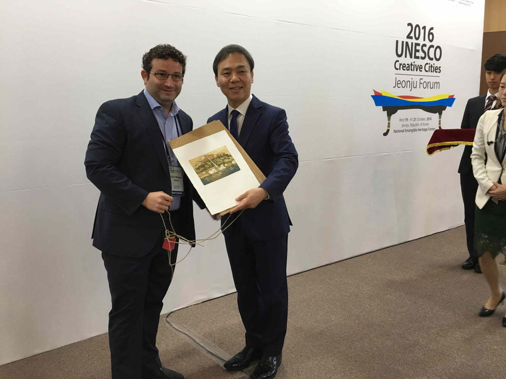 La delegación dianense en Corea