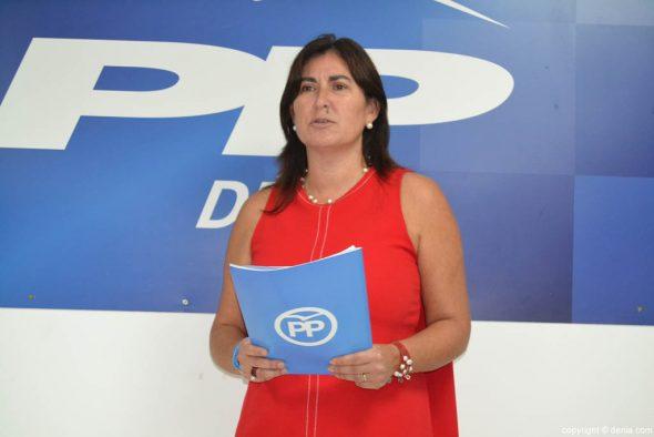 María Mut - presidenta del PP en Dénia