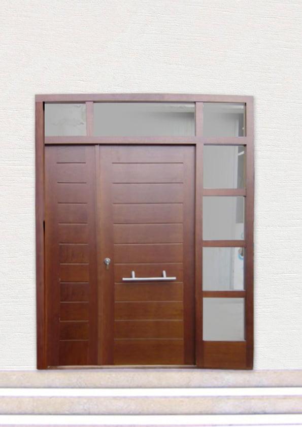CEDAR entrance door carpentry Fusta BRAZIL COLOR machiembrado