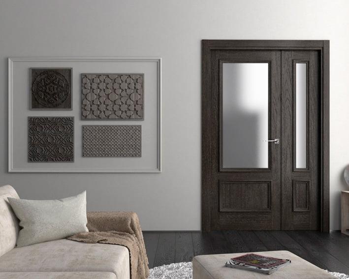 Door of the gray room Carpintería Fusta