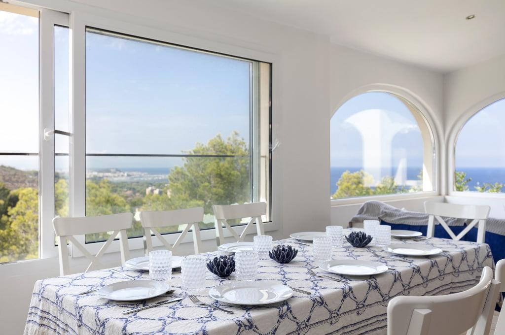 Zona menjador amb vistes Quality Rent a Vila