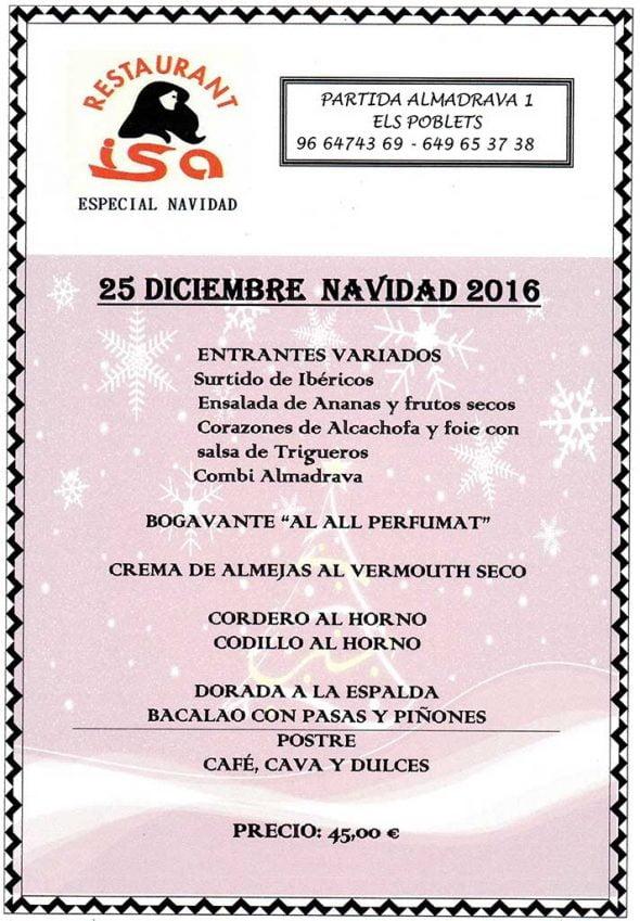 25 diciembre Restaurante Isa