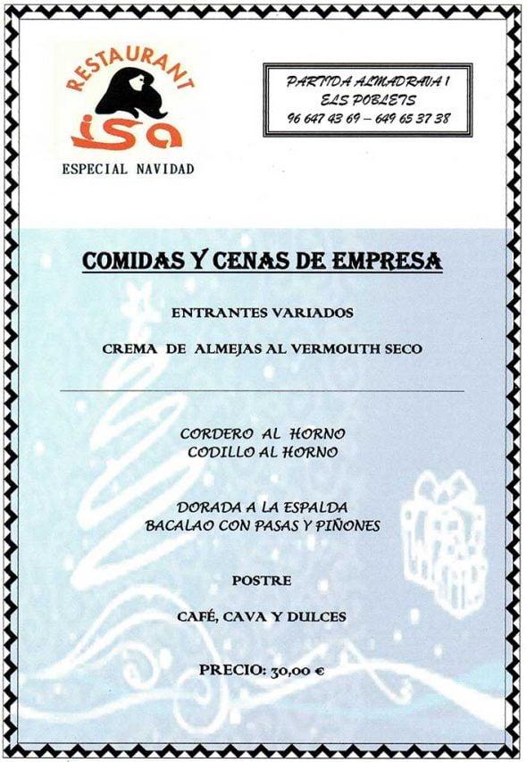 Comidas y cenas de Empresa Restaurante-Isa