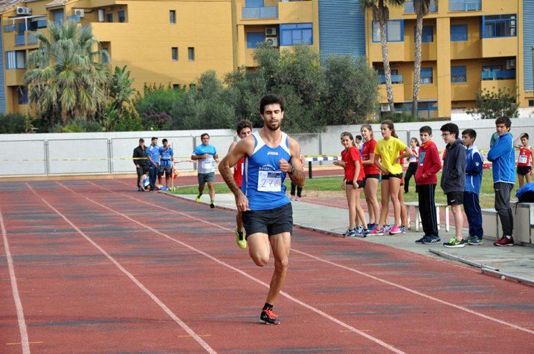 Dani Cano en la recta de meta