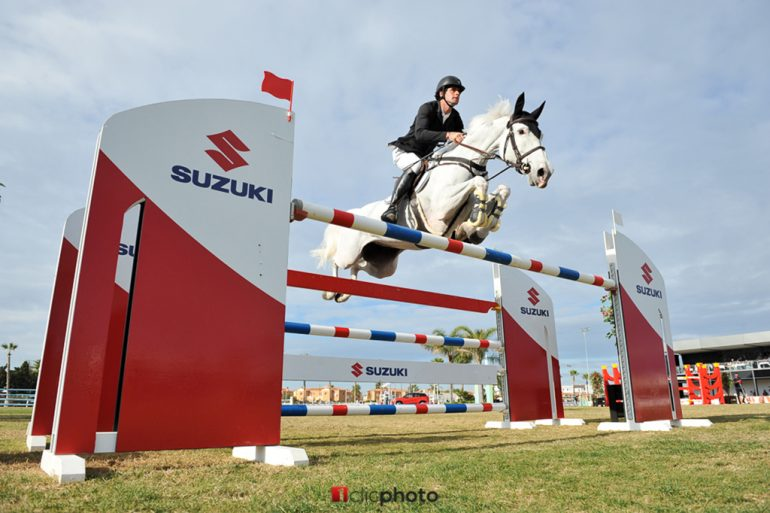 David Simpson with his horse Chessy 17