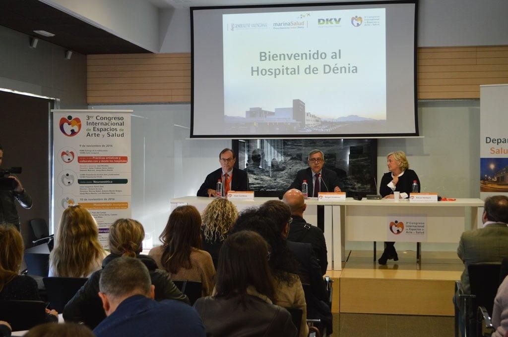 Inauguratie van het Internationale Congres voor Kunst en Gezondheid in Denia