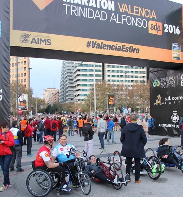 José Miguel Avellá en la Maratón de Valencia