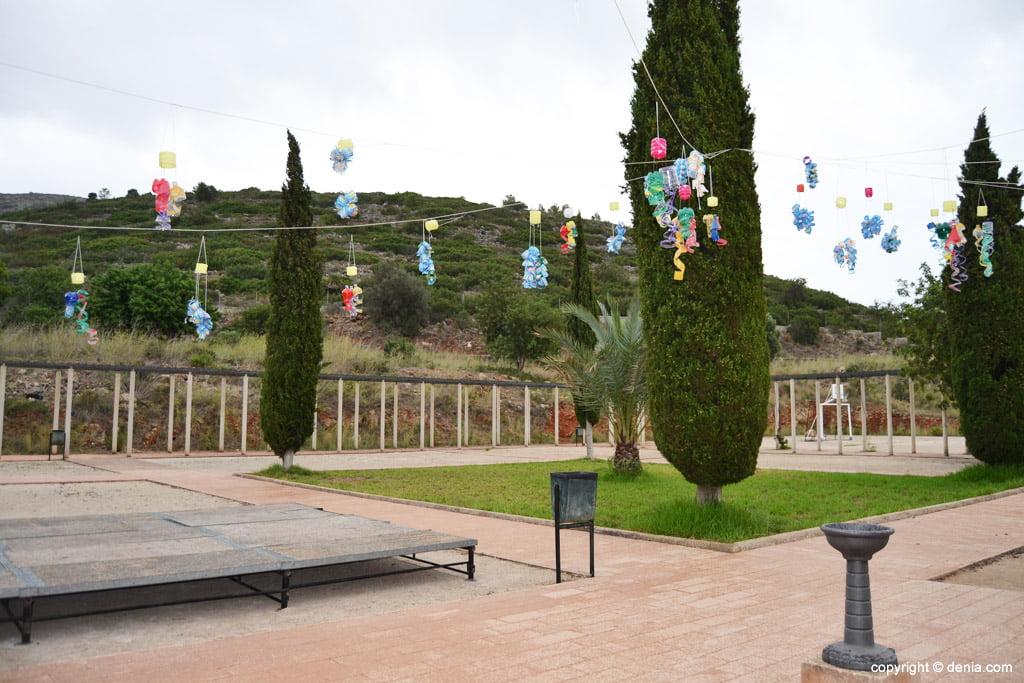 Patio del centro ocupacional de La Xara