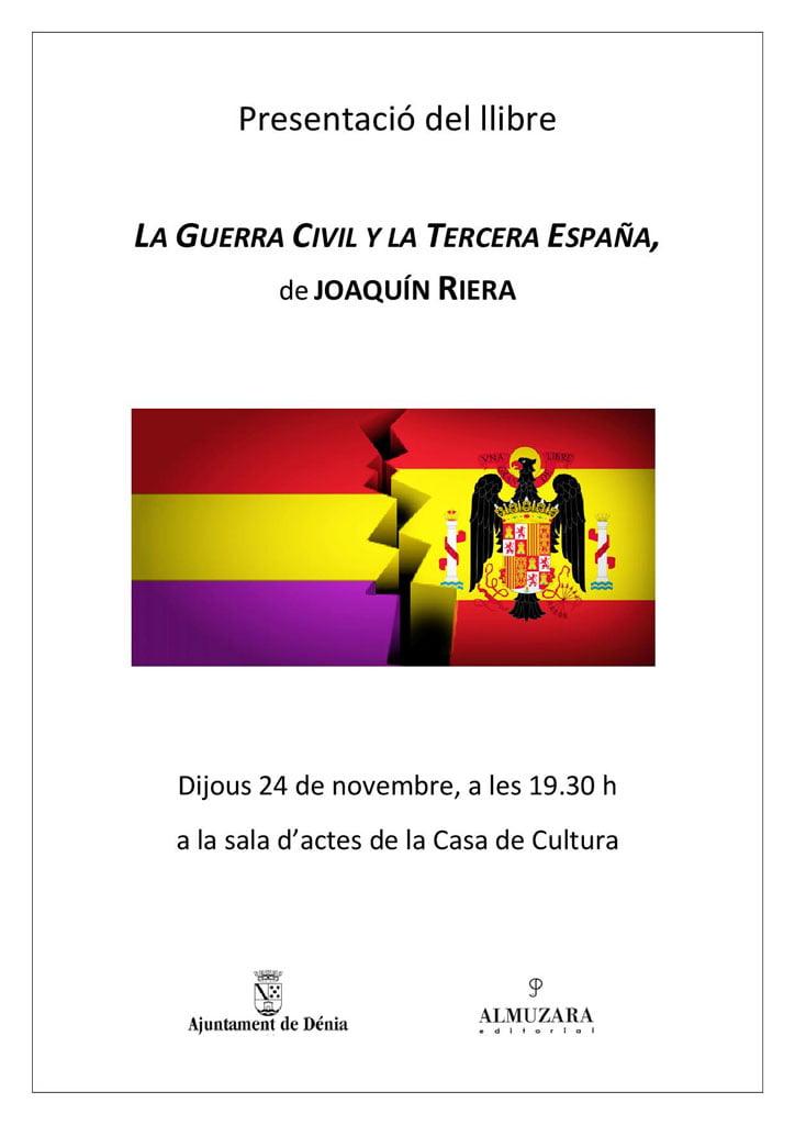 Presentación del libro de Joaquín Riera
