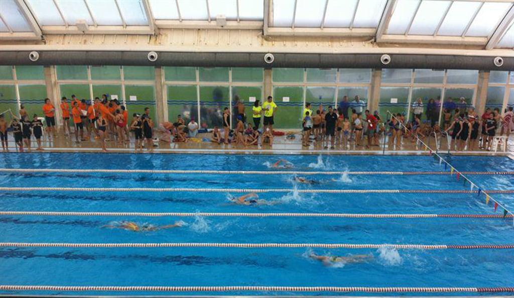 Prueba de la Liga comarcal escolar de natación